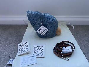 Authenic Loewe Rabbit Crossbody Bag Animal Motif Blue