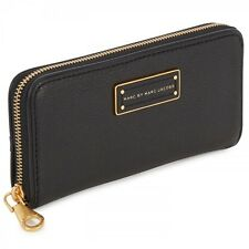Marc Jacobs Too Hot To Handle Continental Zip Around Clutch Wallet Black $208