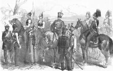 RUSSIA. n Cavalry. Chevalier guard; Hussars; Dragoons, antique print, 1853
