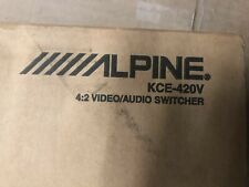 New Alpine Kce-420V Kce420V 4:2 Audio Video Car Stereo Switcher