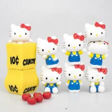 Cute Hello Kitty Figures Play Toy Doll Cake Toppers Set Collective Figurines
