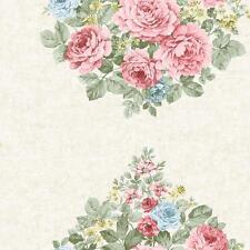 Holden Eden Salón Harper Flor Rosa Patrón de Papel Tapiz Floral Metálico Roll