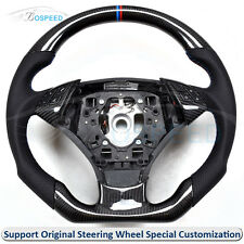 Carbon Fiber + Black Perforated Leather Customized Steering Wheel for BMW E60
