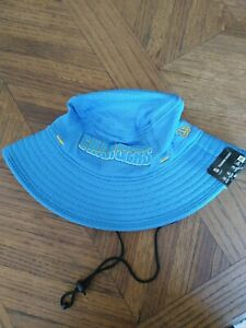 LA Chargers Player Sideline Training Bucket Summer Hat Cap New Era Blue NFL