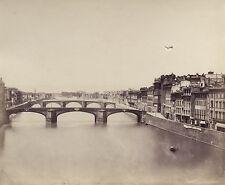 Florence Firenze Italy Italia Vintage albumin (damaged) ca 1870