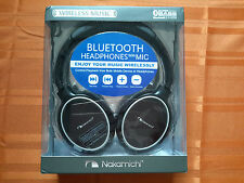 Nakamichi Over the Ear Bluetooth Headphones w/Mic BT304 - Black - Brand New