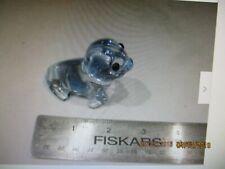 "Oneida 24% lead crystal approx. 2.5"" X 1.75"" clear blue Seal Pup hand cut blown"