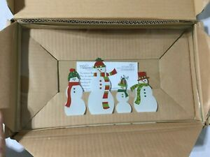 Snowmen Rectangle Platter THE PAMPERED CHEF #2821 NIB 13 1/2 x 8 Inches