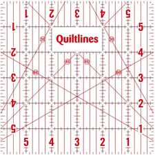 Imperial Quilting Ruler 6 x 6 Inch Clear Red Markings Left or Right hand Use