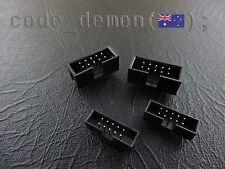10 Pin DC3 Straight Box Header Connector Black 2.54mm & 2.00mm (x2)