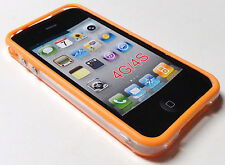 Orange TPU Frame/Bumpers for iPhone 4 - 4G/4S