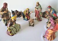 1999 Grandeur Noel Porcelain Nativity Set of 9 Christmas Vintage Large In Box