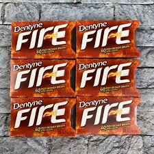 Dentyne Fire Spicy Cinnamon Chewing Gum 6 Packs of 16 Exp Feb 22, 2019