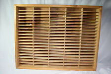 NAPA VALLEY Cassette Audio Tape Holder Wood 50 Double slots Holds 100 Cassettes