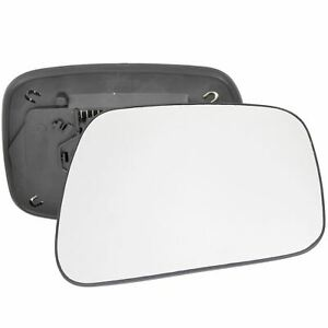 Wing door Mirror Glass Driver side Nissan Navara D40 07-15 Heated Square clip