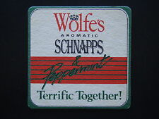 WOLFE'S AROMATIC SCHNAPPS & PEPPERMINT TERRIFIC TOGETHER COASTER