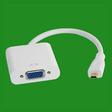 Micro HDMI Male To VGA Female Audio Adapter Cable Video Amplifier Mobile Phones