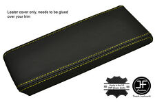 YELLOW STITCHING ARMREST LID GENUINE LEATHER COVER  FITS VOLVO 740 760 940 960