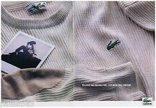 PUBLICITE ADVERTISING 105  1993  LACOSTE   pull tricot ( 2p)
