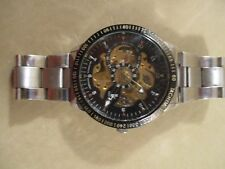 Men's Stainless Steel IK Colouring Automatic Self-Winding Skeleton Watch!!!