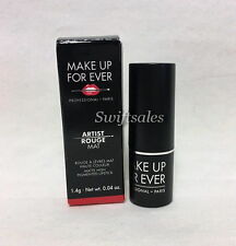 Make Up For Ever Artist Rouge Mat M401 Red Lipstick 1.4g New In Box Sample