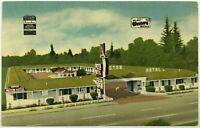 Motor Hotel Bakersfield California CA Best Western Motel 1930's Vintage Postcard
