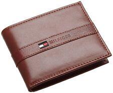 Tommy Hilfiger Men's Leather Ranger Passcase Billfold Wallet Bronzer