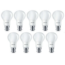 9x Philips LED Frosted B22 60w Warm White Bayonet Cap Light Bulbs Lamp 806 Lm