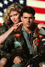 Top gun tom cruise hommes fighter jet pilot fourrure brun vachette veste cuir