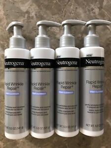 4 Bottles Neutrogena Rapid Wrinkle Repair Prep Cleanser, .5 OZ. Each Bottle