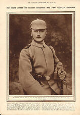 1915 WWI PRINT ~ NEW GERMAN UNIFORM FIELD-GREY BUTTONLESS TUNIC SPIKELESS HELMET