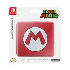 Boîtier pour carte de jeu Mario  - Rouge Nintendo Switch Officiel Neuf