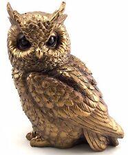 Owl Ornament Realistic Bronze Statue Figurine Art Home Garden Sculpture *17 cm*