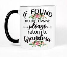 Funny Grandma Coffee Mug Black White Pink Cup Cute Mothers Day Gift Birthday