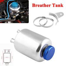 Silver Car SUV Racing Fuel Power Steering Tank Fluid Reservoir Tank Breather Kit