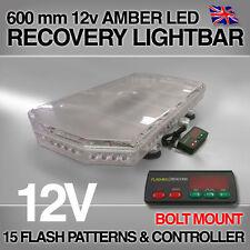 "Led 600 Mm De Perno de montaje ámbar barra de luz estroboscópica baliza recuperación 60 Cm 0.6 Metros 24 """