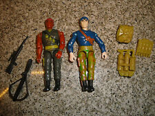 Vintage 1986 Lanard G.I. Joe Figures with Guns and Backpacks Toys
