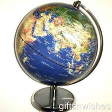 STUNNING QUALITY Blue Satellite View Educational World Globe 25cm Home Decor