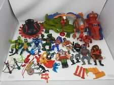 Giant Lot Of He Man MOTU Action Figures,Vehicles,Weapons, And Armor.
