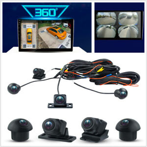 360 Camera Car Bird View System 4 Camera Rear Front Left Right for Android Radio
