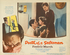 DEATH OF A SALESMAN - 1951 - LOBBY CARD - THREE MAIN LEADS PICTURED - RARE