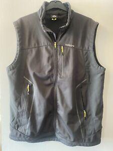TOG 24 Mens Gilet Jacket Body Warmer Lightweight Softshell Pockets Black Feizor
