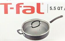 T-fal 5.5-Quart Jumbo Cooker Saute Pan with Glass Lid Cookware High Side - NEW