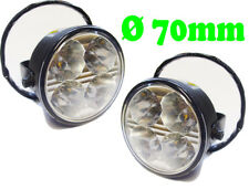 Round DRL 4 LED Daytime Running Lights Front Spot Fog Lamps For Nissan Qashqai