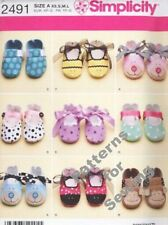 Pattern Simplicity Sewing Toddler Infant Baby Girl Boy Shoes Slippers NEW