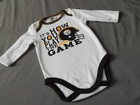 NEW Pittsburgh Steelers Football One Piece Bodysuit Outfit NFL Shirt Baby Sizes