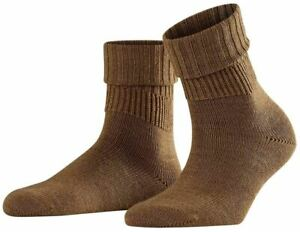 Falke Womens Striggings Rib Socks - Nutmeg Melange Brown