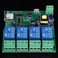 4-Channel Wireless Wifi Switch Relay Module Jog Self-Lock Interlock APP 220V