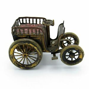 Antique RARE Automoblie, Car, Original Wheels, Metal Tape Measure