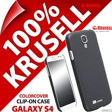 Krusell Noir couleur couverture Coque Pour Samsung i9500 Galaxy S4 étui housse